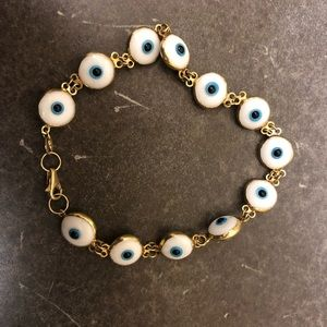 14k gold evil eye bracelets from Greece
